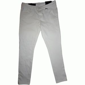 Armani Exchange Solid White Wash Skinny Jeans